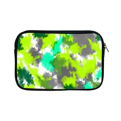 Abstract Watercolor Background Wallpaper Of Watercolor Splashes Green Hues Apple iPad Mini Zipper Cases