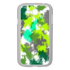 Abstract Watercolor Background Wallpaper Of Watercolor Splashes Green Hues Samsung Galaxy Grand DUOS I9082 Case (White)