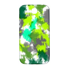 Abstract Watercolor Background Wallpaper Of Watercolor Splashes Green Hues Samsung Galaxy S4 I9500/I9505  Hardshell Back Case