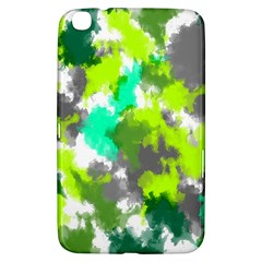 Abstract Watercolor Background Wallpaper Of Watercolor Splashes Green Hues Samsung Galaxy Tab 3 (8 ) T3100 Hardshell Case