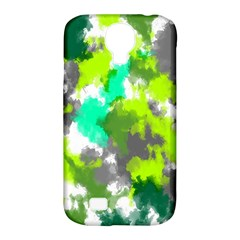 Abstract Watercolor Background Wallpaper Of Watercolor Splashes Green Hues Samsung Galaxy S4 Classic Hardshell Case (pc+silicone)