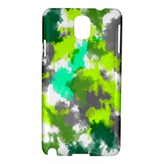 Abstract Watercolor Background Wallpaper Of Watercolor Splashes Green Hues Samsung Galaxy Note 3 N9005 Hardshell Case