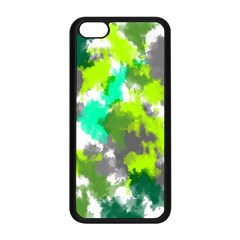 Abstract Watercolor Background Wallpaper Of Watercolor Splashes Green Hues Apple Iphone 5c Seamless Case (black)