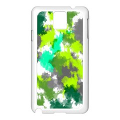 Abstract Watercolor Background Wallpaper Of Watercolor Splashes Green Hues Samsung Galaxy Note 3 N9005 Case (white)
