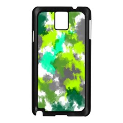 Abstract Watercolor Background Wallpaper Of Watercolor Splashes Green Hues Samsung Galaxy Note 3 N9005 Case (Black)