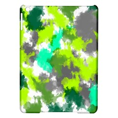 Abstract Watercolor Background Wallpaper Of Watercolor Splashes Green Hues Ipad Air Hardshell Cases
