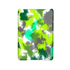 Abstract Watercolor Background Wallpaper Of Watercolor Splashes Green Hues Ipad Mini 2 Hardshell Cases