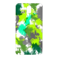 Abstract Watercolor Background Wallpaper Of Watercolor Splashes Green Hues Samsung Galaxy Note 3 N9005 Hardshell Back Case