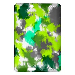 Abstract Watercolor Background Wallpaper Of Watercolor Splashes Green Hues Amazon Kindle Fire HD (2013) Hardshell Case