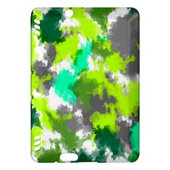 Abstract Watercolor Background Wallpaper Of Watercolor Splashes Green Hues Kindle Fire HDX Hardshell Case