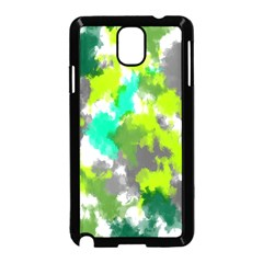 Abstract Watercolor Background Wallpaper Of Watercolor Splashes Green Hues Samsung Galaxy Note 3 Neo Hardshell Case (Black)