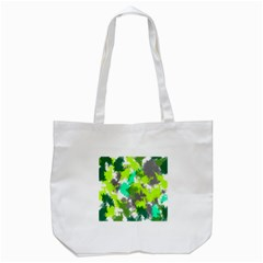Abstract Watercolor Background Wallpaper Of Watercolor Splashes Green Hues Tote Bag (White)