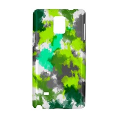 Abstract Watercolor Background Wallpaper Of Watercolor Splashes Green Hues Samsung Galaxy Note 4 Hardshell Case