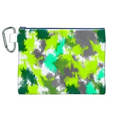 Abstract Watercolor Background Wallpaper Of Watercolor Splashes Green Hues Canvas Cosmetic Bag (XL)