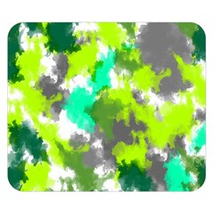 Abstract Watercolor Background Wallpaper Of Watercolor Splashes Green Hues Double Sided Flano Blanket (small)