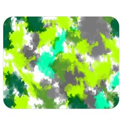 Abstract Watercolor Background Wallpaper Of Watercolor Splashes Green Hues Double Sided Flano Blanket (Medium)