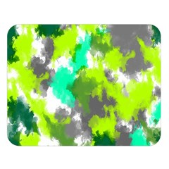 Abstract Watercolor Background Wallpaper Of Watercolor Splashes Green Hues Double Sided Flano Blanket (Large)