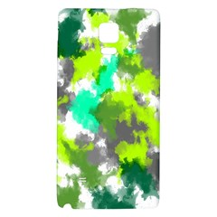 Abstract Watercolor Background Wallpaper Of Watercolor Splashes Green Hues Galaxy Note 4 Back Case
