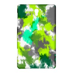 Abstract Watercolor Background Wallpaper Of Watercolor Splashes Green Hues Samsung Galaxy Tab S (8.4 ) Hardshell Case
