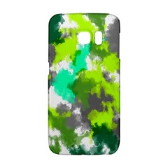 Abstract Watercolor Background Wallpaper Of Watercolor Splashes Green Hues Galaxy S6 Edge