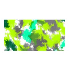 Abstract Watercolor Background Wallpaper Of Watercolor Splashes Green Hues Satin Wrap