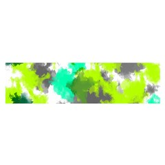 Abstract Watercolor Background Wallpaper Of Watercolor Splashes Green Hues Satin Scarf (oblong)
