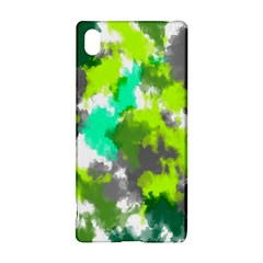 Abstract Watercolor Background Wallpaper Of Watercolor Splashes Green Hues Sony Xperia Z3+
