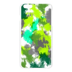 Abstract Watercolor Background Wallpaper Of Watercolor Splashes Green Hues Apple Seamless iPhone 6 Plus/6S Plus Case (Transparent)