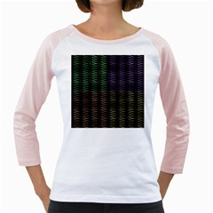 Multicolor Pattern Digital Computer Graphic Girly Raglans