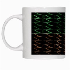 Multicolor Pattern Digital Computer Graphic White Mugs
