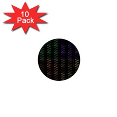 Multicolor Pattern Digital Computer Graphic 1  Mini Buttons (10 Pack)