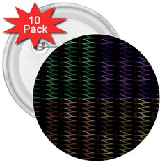 Multicolor Pattern Digital Computer Graphic 3  Buttons (10 pack)