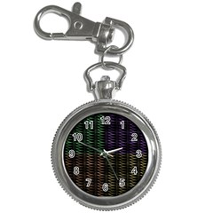 Multicolor Pattern Digital Computer Graphic Key Chain Watches