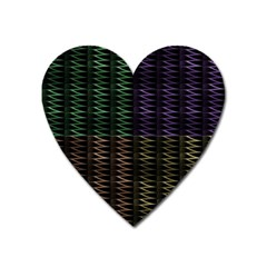 Multicolor Pattern Digital Computer Graphic Heart Magnet