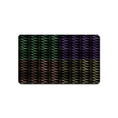 Multicolor Pattern Digital Computer Graphic Magnet (name Card)