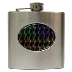 Multicolor Pattern Digital Computer Graphic Hip Flask (6 Oz)