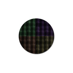 Multicolor Pattern Digital Computer Graphic Golf Ball Marker (4 pack)