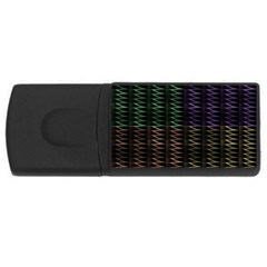 Multicolor Pattern Digital Computer Graphic USB Flash Drive Rectangular (2 GB)