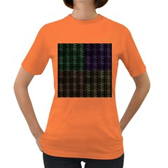 Multicolor Pattern Digital Computer Graphic Women s Dark T-Shirt