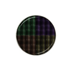 Multicolor Pattern Digital Computer Graphic Hat Clip Ball Marker (10 Pack)