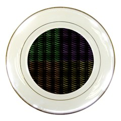 Multicolor Pattern Digital Computer Graphic Porcelain Plates