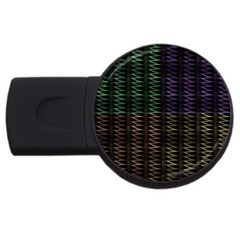 Multicolor Pattern Digital Computer Graphic Usb Flash Drive Round (4 Gb)