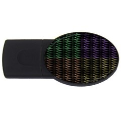 Multicolor Pattern Digital Computer Graphic USB Flash Drive Oval (4 GB)