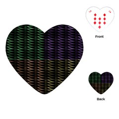 Multicolor Pattern Digital Computer Graphic Playing Cards (heart)