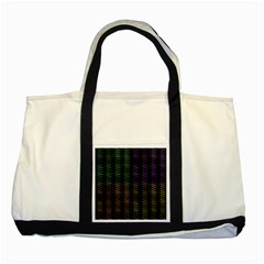 Multicolor Pattern Digital Computer Graphic Two Tone Tote Bag