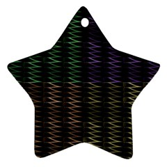 Multicolor Pattern Digital Computer Graphic Star Ornament (two Sides)
