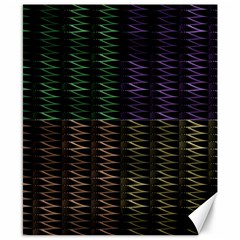 Multicolor Pattern Digital Computer Graphic Canvas 8  x 10