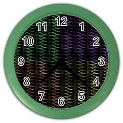 Multicolor Pattern Digital Computer Graphic Color Wall Clocks