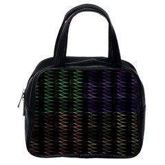 Multicolor Pattern Digital Computer Graphic Classic Handbags (One Side)