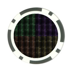 Multicolor Pattern Digital Computer Graphic Poker Chip Card Guard (10 pack)